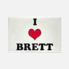 I Love Brett Rectangle Magnet