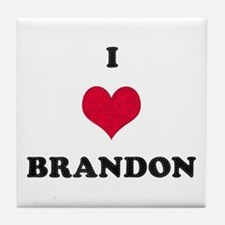 I Love Brandon Tile Coaster