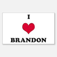 I Love Brandon Rectangle Decal