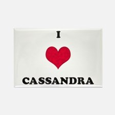 I Love Cassandra Rectangle Magnet