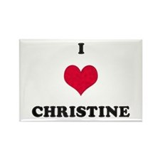 I Love Christine Rectangle Magnet