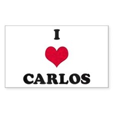 I Love Carlos Rectangle Decal