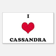 I Love Cassandra Rectangle Decal
