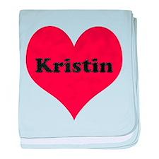 Kristin Leather Heart baby blanket
