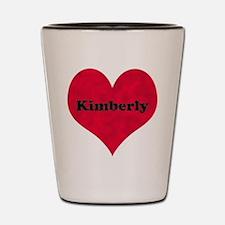 Kimberly Leather Heart Shot Glass