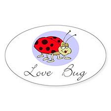 Love Bug Oval Decal