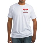 John Jacob Jingleheimer Schmidt Fitted T-Shirt