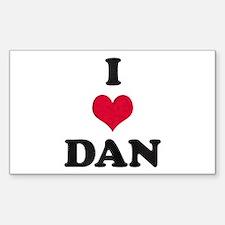 I Love Dan Rectangle Decal