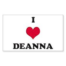 I Love Deanna Rectangle Decal