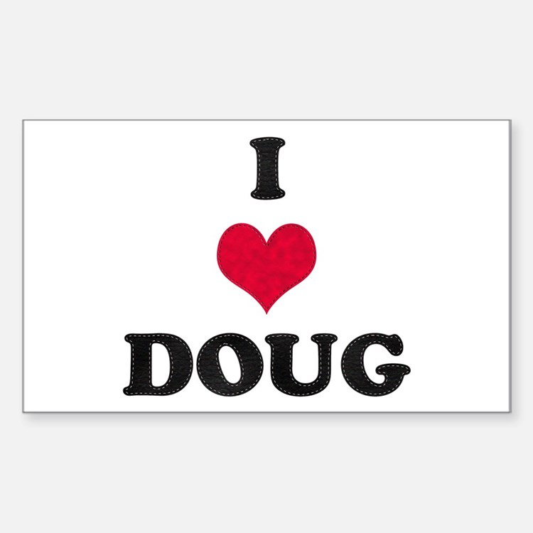 I Love Doug Rectangle Decal