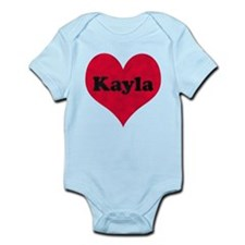 Kayla Leather Heart Infant Bodysuit