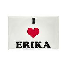 I Love Erika Rectangle Magnet