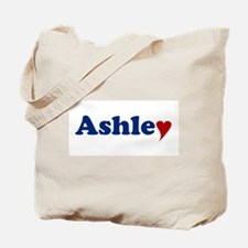 Ashley with Heart Tote Bag