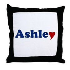 Ashley with Heart Throw Pillow