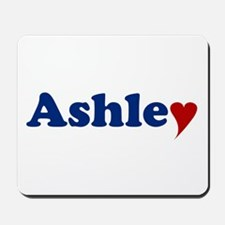 Ashley with Heart Mousepad