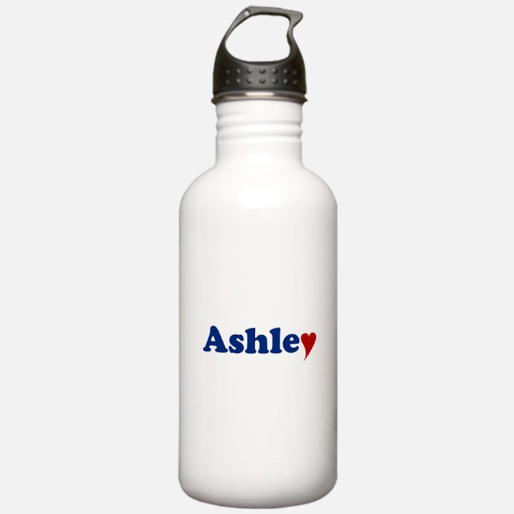 Ashley with Heart Water Bottle