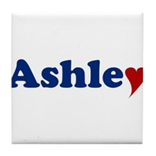 Ashley with Heart Tile Coaster