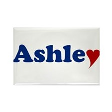 Ashley with Heart Rectangle Magnet