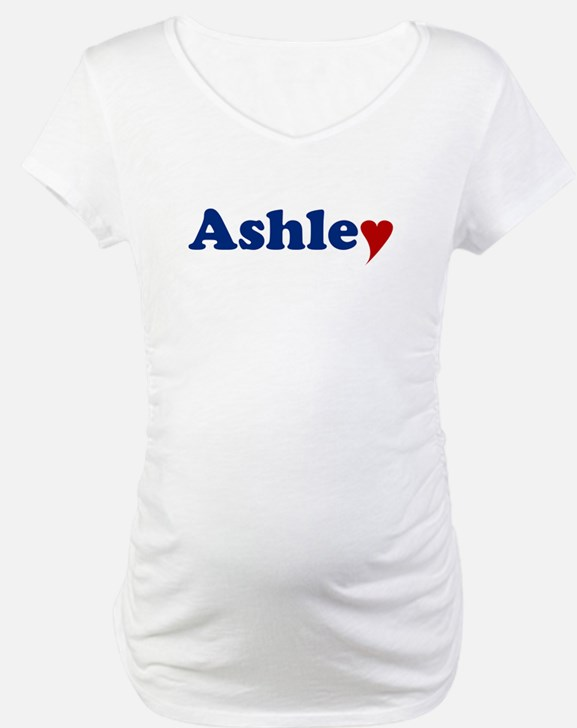 Ashley with Heart Shirt