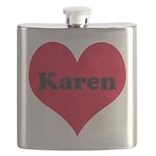 Karen Leather Heart Flask