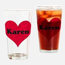Karen Leather Heart Drinking Glass