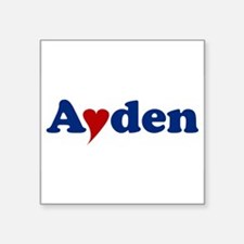 """Ayden with Heart Square Sticker 3"""" x 3"""""""