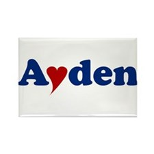 Ayden with Heart Rectangle Magnet