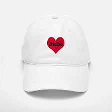 Julie Leather Heart Baseball Baseball Cap