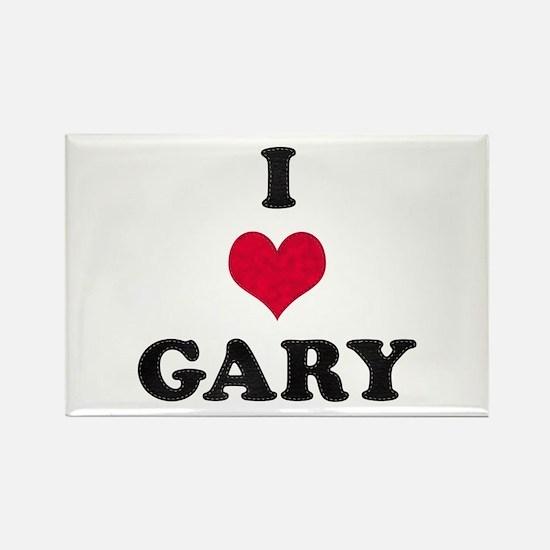 I Love Gary Rectangle Magnet