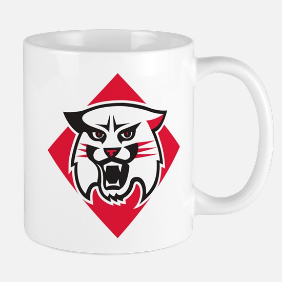 Davidson Wildcat Mascot Head Log Small Mug