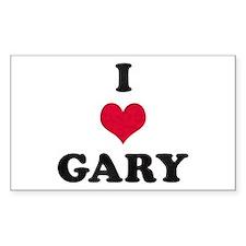 I Love Gary Rectangle Stickers