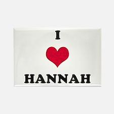 I Love Hannah Rectangle Magnet