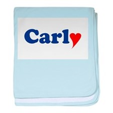 Carly with Heart baby blanket