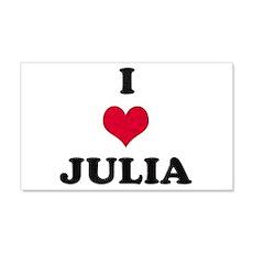 I Love Julia 22x14 Wall Peel