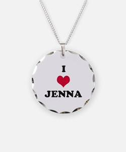 I Love Jenna Necklace