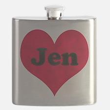 Jen Leather Heart Flask