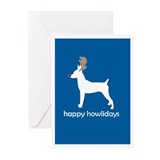 """Toy Fox Terrier """"Happy Howlid Greeting Cards (Pack"""