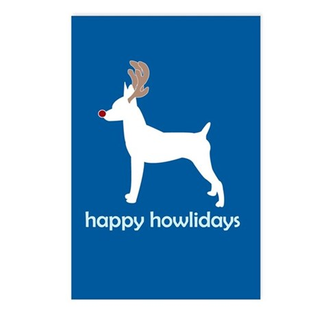 """Toy Fox Terrier """"Happy Howlid Postcards (Package o"""