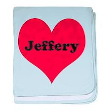 Jeffery Leather Heart baby blanket