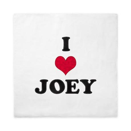 I Love Joey Queen Duvet By Namestuff Iheart