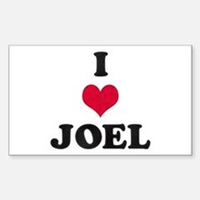 I Love Joel Rectangle Decal