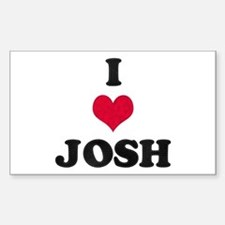 I Love Josh Rectangle Decal