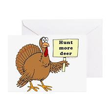 Turkey: Hunt More Deer Greeting Cards (Package of
