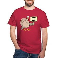 Turkey: Hunt More Deer Red T-Shirt