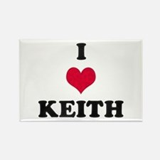 I Love Keith Rectangle Magnet