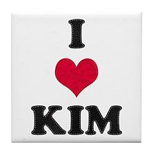 I Love Kim Tile Coaster