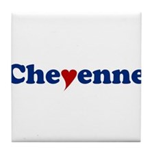 Cheyenne with Heart Tile Coaster