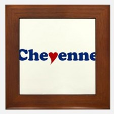Cheyenne with Heart Framed Tile