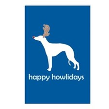 """Whippet """"Happy Howlidays"""" Postcards (Package of 8)"""