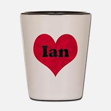 Ian Leather Heart Shot Glass